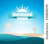 summer poster with sea waves... | Shutterstock .eps vector #246808240