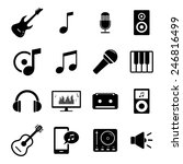 collection of flat media icons  ...   Shutterstock .eps vector #246816499