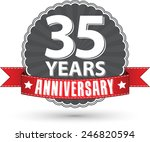 celebrating 35 years... | Shutterstock .eps vector #246820594