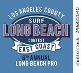 california surf coast... | Shutterstock .eps vector #246822040
