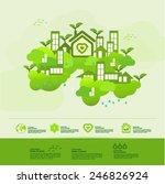 ecology green town  vector... | Shutterstock .eps vector #246826924