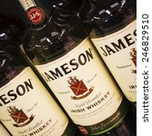 Small photo of PARAINEN, FINLAND - APRIL 23, 2013: 1780 began the tradition of Jameson Irish Whiskey.