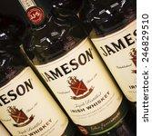 Small photo of PARAINEN, FINLAND - APRIL 23, 2013: 1780 began the tradition of Jameson Irish Whiskey.