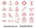 nautical vector illustration... | Shutterstock .eps vector #246834853
