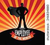 employee of the month burst eps ...   Shutterstock .eps vector #246834880