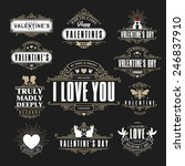 retro vintage insignias or... | Shutterstock .eps vector #246837910
