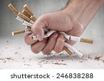 Man Refusing Cigarettes Concep...
