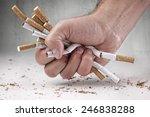 Man Refusing Cigarettes Concep...