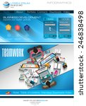 modern website template with...
