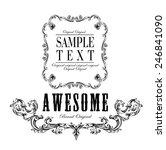 big set of calligraphic...   Shutterstock .eps vector #246841090