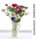 colourful flowers in vase ... | Shutterstock . vector #246841360