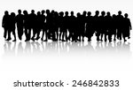 people silhouettes group women... | Shutterstock .eps vector #246842833