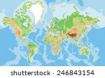 highly detailed world map.... | Shutterstock .eps vector #246843154
