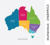 australia map color with... | Shutterstock .eps vector #246849013