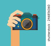 hand holding camera vector | Shutterstock .eps vector #246856360