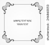 calligraphic grey frame with... | Shutterstock .eps vector #246860053