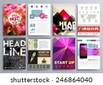 set of design templates for... | Shutterstock .eps vector #246864040