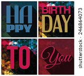 vector birthday card with... | Shutterstock .eps vector #246864073