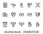 ticket vending machine vector... | Shutterstock .eps vector #246865318
