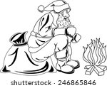 illustration of santa claus... | Shutterstock . vector #246865846