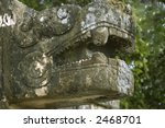 close view of quetzal altar...