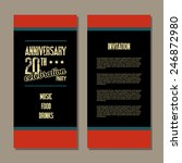 anniversary invitation card | Shutterstock .eps vector #246872980