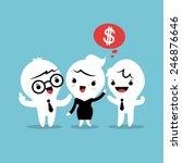 refer a friend referral cartoon ...   Shutterstock .eps vector #246876646