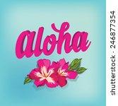 summer poster.typography vector. | Shutterstock .eps vector #246877354