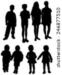 collection of silhouettes of... | Shutterstock .eps vector #246877510