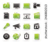 multimedia and technology icons ... | Shutterstock .eps vector #246882013