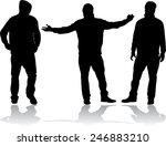 men silhouettes | Shutterstock .eps vector #246883210