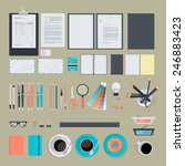 set of flat design items for... | Shutterstock .eps vector #246883423