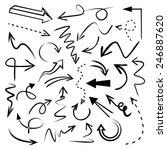 hand drawn vector arrows set ...   Shutterstock .eps vector #246887620