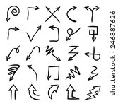 hand drawn vector arrows set ... | Shutterstock .eps vector #246887626