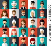 set of flat icons with people.... | Shutterstock .eps vector #246888370