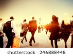people commuter walking rush... | Shutterstock . vector #246888448