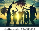 people enjoying party by the...   Shutterstock . vector #246888454