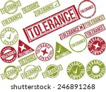 collection of 22 red grunge... | Shutterstock .eps vector #246891268