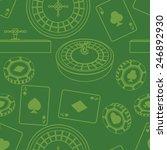 seamless casino pattern | Shutterstock . vector #246892930