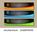 colorful modern text box... | Shutterstock .eps vector #246894040