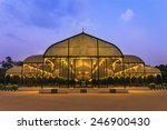 night scene of Lalbagh park in Bangalore City, India