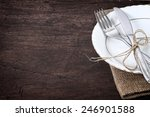 seasonal table with cutlery | Shutterstock . vector #246901588