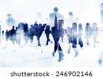 commuter business people... | Shutterstock . vector #246902146
