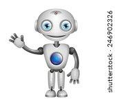 cute robot with big eyes | Shutterstock . vector #246902326
