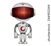 robot doctor with stethoscope.... | Shutterstock . vector #246902344