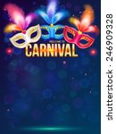 bright carnival masks on dark... | Shutterstock .eps vector #246909328