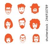characters faces. figures icon... | Shutterstock .eps vector #246910789