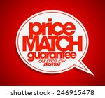 price match guarantee speech... | Shutterstock .eps vector #246915478