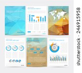 set of vector poster... | Shutterstock .eps vector #246915958