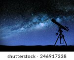 illustration of a telescope... | Shutterstock . vector #246917338